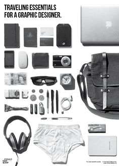 What to pack for your trip? Here are essentials things a graphic designer should bring when traveling! #graphicdesigner #travel