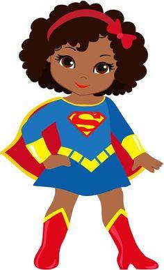 Black Girl Cartoon, Black Girl Art, Black Girl Magic, Cute Cartoon, Art Girl, Super Heroine, Female Superhero, Black Kids, Black Babies