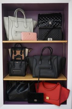 chanel and celine collection. #bagporn #collections