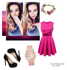 strong pink by peleisgod on Polyvore featuring мода, Jessica Simpson, Aéropostale and Topshop