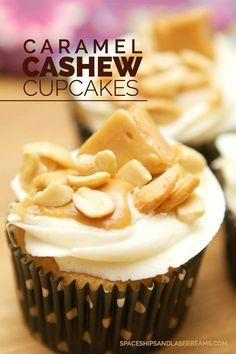 Cashew Caramel Cupcakes
