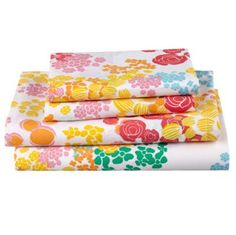 """Floral Gem Sheet Set, $69-$119, Land of Nod -- -- """"There's lots of florals in kid stuff, too, and sophisticated florals. In the bedroom, people have this terrible habit of only having white sheets. The more fun kind of floral sheets are in stores like Pottery Barn Kids and Land of Nod."""" -- DAVID MITCHELL"""