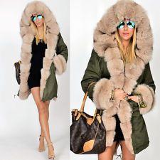 Roiii NEW Womens Faux Fur Hooded Jacket Winter Warm Parka Coat ...