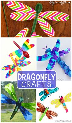 Colorful Dragonfly Craft Ideas for Kids (Spring or Summer time art projects) | CraftyMorning.com