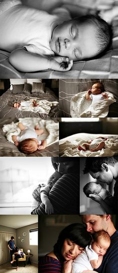 Newborn family photo ideas.