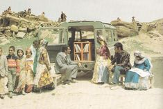 Mohammad Bahmanbeigi and his mobile library in Iran 1970s