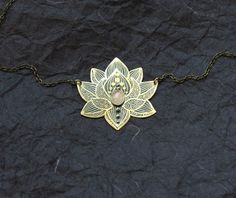 Hey, I found this really awesome Etsy listing at https://www.etsy.com/listing/196826605/lotus-necklace-water-lily-necklace-brass