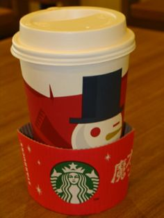 Our Starbucks Chirstmas cup. There aren't any near me. The closest one is about an hour away. Kath you would be proud of me I've only had 2 maybe 3 coffees since I've been here. Even if I can find coffee there is no cream and that means black I can't do that. lol