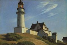 Edward Hopper - The Lighthouse at Two Lights, Maine
