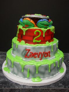 Order your Kids Birthday Cake Today! Our Bakery offers birthday cakes your kids will love! Theme your birthday cake in your child's favorite super hero, Turtle Birthday Parties, Ninja Turtle Birthday, Ninja Turtle Party, Ninja Turtles, 5th Birthday, Birthday Ideas, Tmnt Cake, Lego Cake, Minecraft Cake