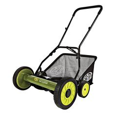Sun Joe Mow Joe 18 in. Manual Reel Mower with Grass Catcher. This Sun Joe Reel Mower with Catcher is easy to push and maneuver on small lawns. The Mow Joe M R M from Sun Joe is maintenance free and easy to assemble. Reel Lawn Mower, Push Lawn Mower, Lawn Mower Tractor, Rack Bike, Walk Behind Lawn Mower, Riding Lawn Mowers, Yard Care, Tractor Supplies, Cool Stuff
