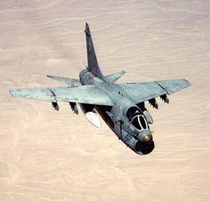 A Vought A-7 Corsair II.