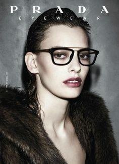 Amanda Murphy for Prada Eyewear Autumn/Winter 2013 Campaign, ph. by Steven Meisel.