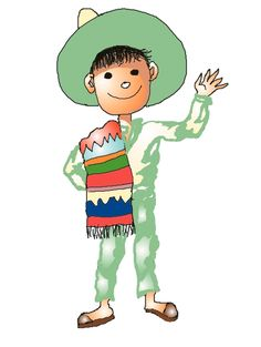 Mexican Boy. Free clip art.