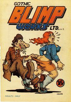 Orano Factory Robert CRUMB - Cover of Gothic Blimp Works Ltd. # 2 - 1969