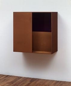Donald Judd - Untitled Corten steel with purple plexiglass, 39 3/8 x 39 5/8 x 19 5/8 (100 x 100 x 49.8 cm), (USA), ca.1986