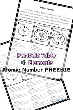 Periodic table of elements research poster project periodic table atoms periodic table of elements practice finding the atomic number with these worksheets urtaz Images