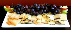 Here's a colorful Sartori cheese platter! Add your own touch with some fresh fruit, honey, or nuts. We wanted to keep our tray bright so we picked 5 beautiful cheeses: Pastorale Blend, Espresso BellaVitano, Raspberry BellaVitano, Rosemary Asiago and Merlot BellaVitano!
