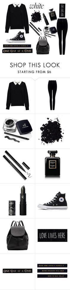 """""""Untitled #351"""" by em-ro ❤ liked on Polyvore featuring Essentiel, Citizens of Humanity, Chanel, Lipstick Queen, Converse, Witchery and DutchCrafters"""