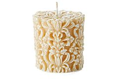 Love love love this candle. It just needs to be waaay bigger!   Paramount White Petite Pillar, Unscented on OneKingsLane.com