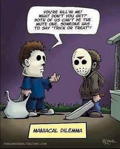 #SundayFunnies #MichaelMyers #JasonVoorhees #Halloween #Halloween2016 #TrickOrTreat #TrickOrTreating #slasher #slasherfilm #Fridaythe13th  #Art by ParaAbnormalTheComic.com