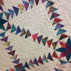 Starry geese quilting