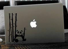 panda decal for laptop