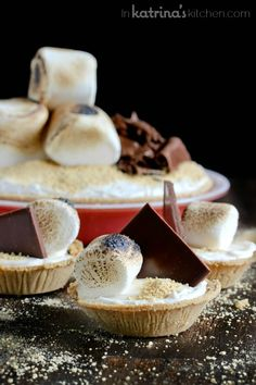 Mile High Smores Pie Recipe in mini or full size