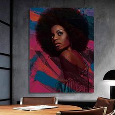 African-American Woman Vector Beauty Woman, African Art, Canvas decoration for living room, Housewarming Gift, Black Woman Art Comic Poster, New Poster, Black Women Art, African American Women, Beautiful Paintings, African Art, Female Art, Beauty Women, Vector Art