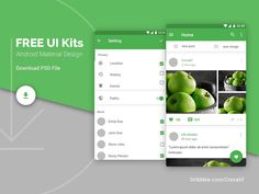 Android Material Design Ui Kits by Mostafa Amh - Dribbble