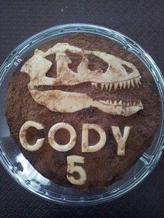 Chocolate dinosaur fossil cake