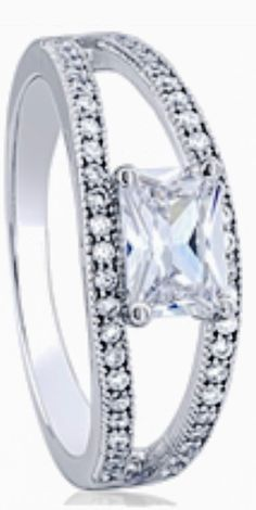 Open Band Silver Ring with CZ www.jewylz.com