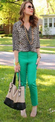 Leopard-Print Blouse Street Style