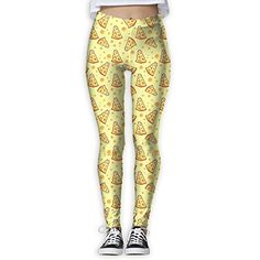 321f1cef55f61 Egg Egg Women's Yoga Pants Pizza Cheese Stretch Leggings Thin Capris Pants  With High Waist