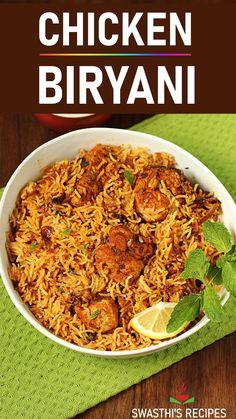 Chicken Biryani Recipe Video, Biryani Recipe Easy, Chicken Biryani Recipe Indian, Biryani Chicken, Recipe Chicken, Tandoori Recipes, Spicy Chicken Recipes, Easy Veg Recipes, Tandoori Masala