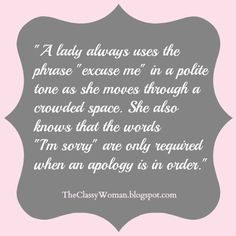 {The Classy Woman} Classy Tip of the Week: Navigating a Crowd #manners #etiquette