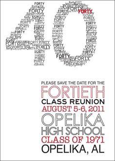 Modern Class Reunion Invitation by herringdesignco on Etsy, $25.00