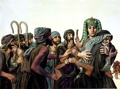 """4 Then Joseph said to his brothers, """"Come close to me."""" When they had done so, he said, """"I am your brother Joseph, the one you sold into Egypt! Church Pictures, Bible Pictures, Religious Pictures, Joseph In Egypt, St Joseph, Pre Tribulation, Joseph Dreams, Sons Of Jacob, The Bible Movie"""