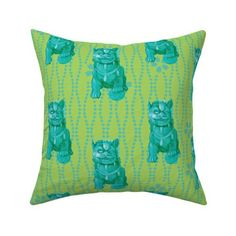 foo dog pillow - Google Search Foo Dog, Chinoiserie Chic, Fabulous Fabrics, Dog Design, Custom Fabric, Creative Business, Spoonflower, Fabric Design, Throw Pillows