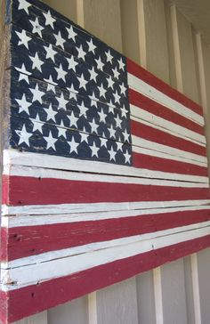 American Flag Pallet Sign by MsDsSigns on Etsy, $50.00