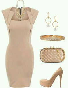 Neutral cocktail dress