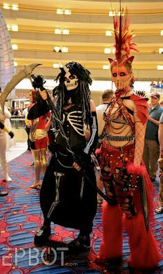 """I don't really understand this whole """"My Little Pony"""" thing.... BUT I love these two cosplays!! They're the ponies of the apocalypse! One is death and one is war! I love the details here!"""