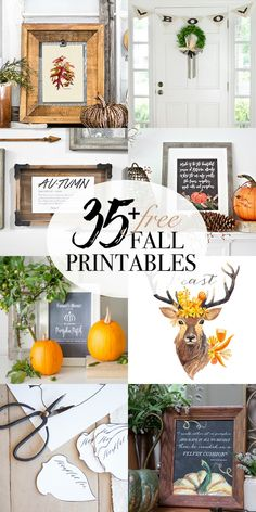 Beautiful collection of free fall printables.