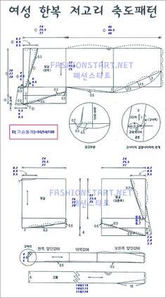남자한복 축소패턴 네이버 블로그 Sewing Patterns Around The World