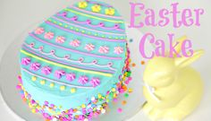Buttercream Easter Cake We are giving the Easter Egg Cake a re-vamp, with confetti, piping and yummy buttercream. Hop on over to YouTube to check it out! https://youtu.be/lvpSWfemDf0