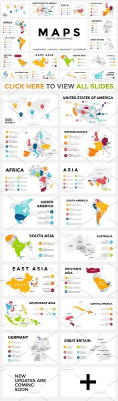 MAPS - Free Updates. Presentation Templates