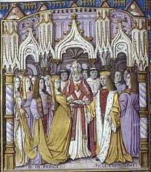 The marriage of Catherine of Valois and Henry V in 1420.