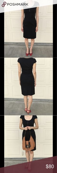 DIANE von FURSTENBERG DVF little black dress LBD❤️ DVF LBD, how much cuter can it get? Cap sleeves, scoop neck with 3 button closure. Slip-on style, no zippers. Goes well with EVERYTHING and wear it from work to cocktail! Red Kate Spade shoes and the FENDI B hobo bag are for sale too in my closet. Open to reasonable offers or bundle 2 for 15% off! Diane Von Furstenberg Dresses