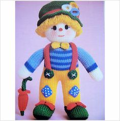 Jean Greenhowe Knitting Pattern ~ Cuddly Clown Soft Toy on eBid United Kingdom