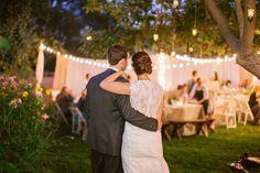 At home California fall wedding: Becca + Nate   Real Weddings   100 Layer Cake